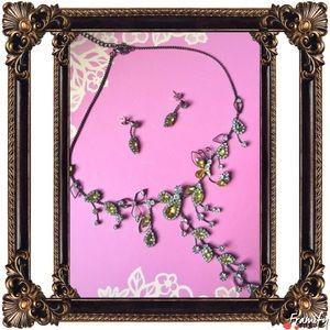 Jewelry - Fashion Yellow Rhinestone Fancy Black Jewelry Set